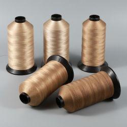 Venda a quente de PTFE Revestir a rosca Sew de fibra de vidro para o saco do filtro