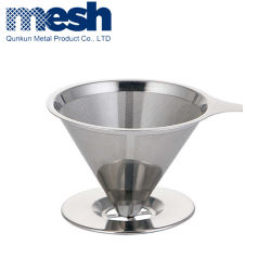 El papel de la marca V60 de mano de acero inoxidable filtro de café de costura de goteo