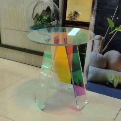 Moderne Möbel Gradient Farbe Runde Couchtisch Blendend Acryl Ecktisch