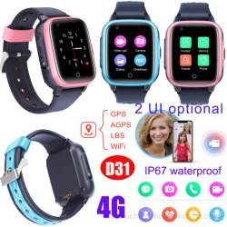 Global Video Call D31를 가진 4G IP67 Waterproof New Launched Kids Watch GPS Tracker