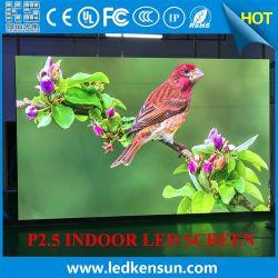 P2.5 480*480 مم Super Thin Stage خلفية شاشة LED حائط فيديو محمول مصباح LED داخلي للخدمة الأمامية بدقة HD ذات درجة الميل الصغير بالكامل RGB Display (شاشة العرض
