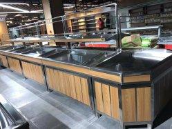Factory Sales Supermarkt Store Display Metall Holz Obst und Gemüse Standregal und Gondelregal zum Verkauf