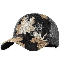 5 panneau Hat Fashion paillettes camionneur Casquette de baseball de maillage