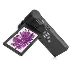 """최신 4.0인치 LCD 현미경(편광 기능 포함), 1080p 풀 HD Mi 출력 20X-300X 휴대용 디지털 현미경(4"""" LCD 화면 포함"""