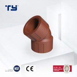 PP 나사형 엘보 중국 압력 파이프 피팅 플라스틱 파이프 물 배관 가격 목록 제조업체