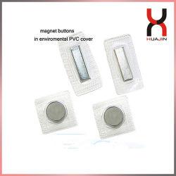 PVC TPU plástico cubierto de ropa Sewable impermeable Sew en imanes Botón magnético oculto oculto de enganche