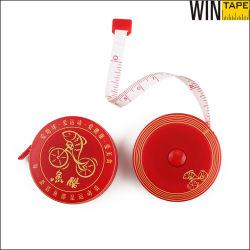 Custom красный 1.5m пластмассовых изделий из стекловолокна мерную ленту в качестве рекламных подарков