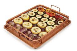 텔레비젼은 최신 인기 상품에게 다기능 탄소 강철 지팡이 BBQ 감자 튀김을 구리 냉장고의 야채 보전실 쟁반 바구니 비 보여준다