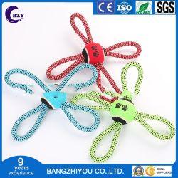 Cuerda de algodón en forma de X-nudo simple tenis más dientes de la mascota de la cuerda de algodón tejido molar juguete Juguetes