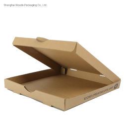 싼 피자 포장 상자를 위해 인쇄하는 보통 로고를 가진 가격에 의하여 주문을 받아서 만들어지는 Kraft 종이