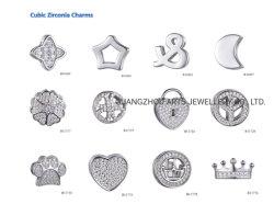 Multi-Shape zircones cúbicos DIY encanto de plata