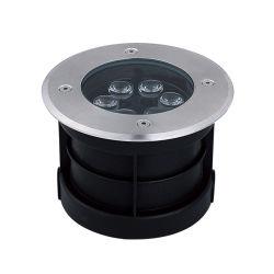 5W 6W con protección IP65 Resistente al agua al aire libre cubierta LED redonda Jardín enterrada enterrados RGB de la luz