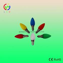 El LED C7 E12 E14 Lámparas multicolores cubiertas opacas