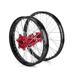 [كنك] درّاجة ناريّة [كرف250] 21*1.6/18*2.15 بوصة ألومنيوم عجلة حافّة مع مكبح
