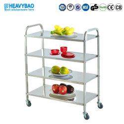 Heavybao Bienes Muebles de cocina de acero y organizador de la casa rodante CARRO carro de servicio de almacenamiento Rack