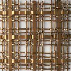 YQ rete metallica decorativa rivestita in rame per decorazione alberghiera