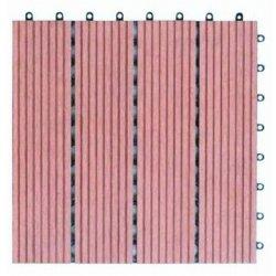 O intertravamento DIY Capas impermeáveis fácil de instalar WPC azulejos em deck