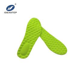 La espuma de látex verde desodorante antibacteriano sudor masaje de pies Plantilla