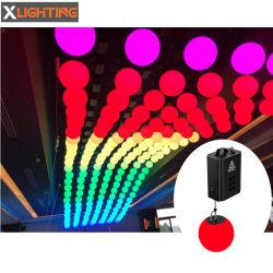 새 모델 DMX 3D LED 리프트 볼 시스템 윈치 LED 나이트 클럽용 딤블 키네틱 라이트 조명 시스템