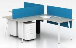 La estación de trabajo doble extra grande de escritorio para dos personas, de estilo sencillo y moderno Despacho con almacenamiento de metal