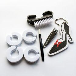 Insieme di manicure del sacchetto del PVC dell'archivio di chiodo di EVA dell'alto tallone