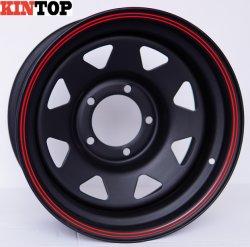 8 habla de la rueda de aleación de Matt Black 4X4 off road para llanta de chapa del coche