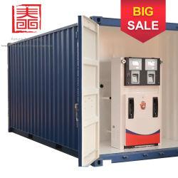 Le réservoir de carburant en acier au carbone de la station de carburant du réservoir/Mobile avec distributeur de carburant et le déchargement de la pompe à l'Iran à l'exportation/l'Indonésie/Bhoutan/Vanuatu