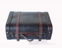 De uitstekende Boomstam van de Koffer van de Bagage van het Leer van de Stijl Houten