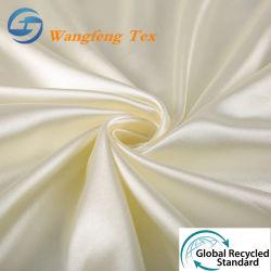 100% RPET/ gerecycled 50d*75D Woven Textiel waterdicht Polyester zijde Spandex Satijn stof voor kleding