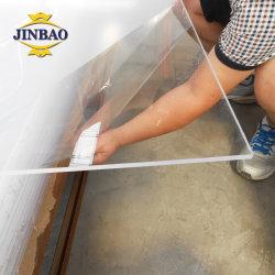 Jinbao 1220 x 2440mm 2050 x 3050mm 2 mm 3 mm a 5 mm com padrões de mármore vidro acrílico claro personalizados cortados a laser Preço para molduras de imagem