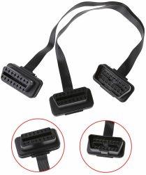 Mannes-bis 2 der Weibchen-OBD II Y des Kabel-OBD2 Kabel des 16 Pin-Teiler-1 Kabel-Adapter-der Verdrahtungs-OBD