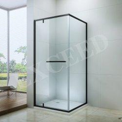 نافذة الحمام من الألومنيوم مفصلة سوداء الباب الزجاجي شاشة الدش (EX-309)