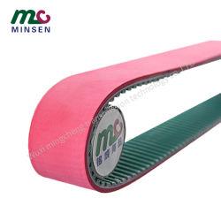 PU-roter anhaftender spezieller synchroner Riemen-Polyurethan-anhaftender synchroner Riemen Palletizer Riemen angegeben direkt vom Hersteller
