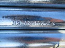 Zink 550GSM galvanisierte Stahlrohr ERW CS verlegte Kupplung-heißes eingetauchtes galvanisiertes Rohr