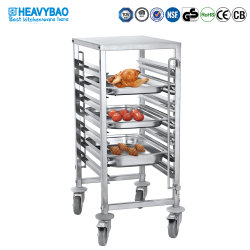 Restaurant를 위한 Heavybao Single Row Stainless Steel Gastronorm Gn Pan Tray Trolley