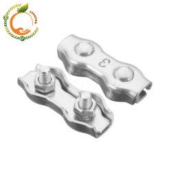 스테인리스 스틸 단면 이중 와이어 로프 클립 클램프 클립 와이어 로프 피팅