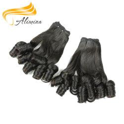 El cabello humano pleno mano atada teje brasileño Extensiones de Cabello