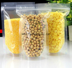 Limpar biodegradáveis recicláveis Pouch Zip Saco de bloqueio para o café, Porca, Feijão, Sementes