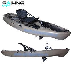 il kajak dell'azionamento del pedale di pesca di turismo di 10FT singolo si siede sul crogiolo superiore di canoa con i pedali all'ingrosso