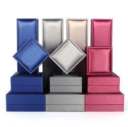 Spot Pattern de tréfilage haut de gamme de marchandises Cuir synthétique Boîte à Bijoux Bijoux de la télécommande, bague Collier Bracelet coffret à bijoux d'emballage