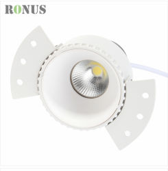 LED 옥수수 속 스포트라이트 매트 백색 테가 없는 5-18W 반점 빛 램프 천장 실내 점화 Downlight