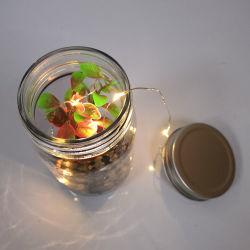 Lp3203 décoration en verre pot avec lampe de fil de cuivre pour mariage Holidy Party de Noël les maisons, shop; jardin ; Chambre décorations; Indoor Bougie en verre d'éclairage; L