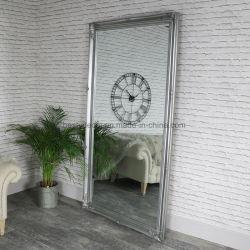 실버 대형 목재 빈티지 바닥 장식 거울