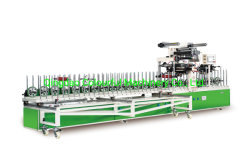 Nsi-PUR300 WPC PROFIL PVC d'enrubannage de la machine de contrecollage avec pur la colle chaude