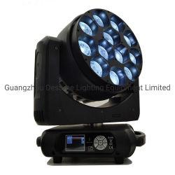 L'éclairage Disco 12pcs 40W LED RGBW Zoom le déplacement de la tête de lumière LED de faisceau DJ