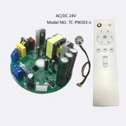 24V ACDC, 2cc de un controlador de ventilador de techo con mando a distancia