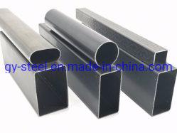 Commerce de gros Hot Sale creuse du tuyau en acier carré de fer noir