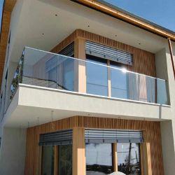 Proveedor de China rampa pasamanos de Acero Inoxidable Aluminio Balcón Canal U sin cerco de la base de Vidrio Cristal de baranda balaustrada Terraza