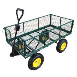 Stahlvierradgarten-Hilfsmittel-faltbare Ineinander greifen-Laufkatze-Karre