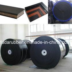 Ep cinta transportadora de caucho Bellt Industrial de China el extremo abierto de cruce plana cinta transportadora ep